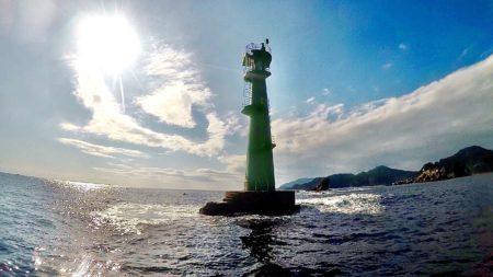 Green lighthouse(日向野瀬灯標)