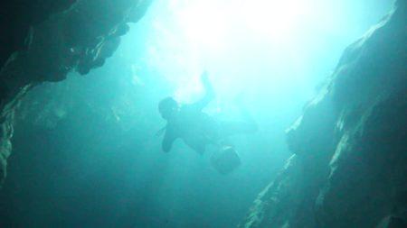 稲積水中鍾乳洞 underwater videography